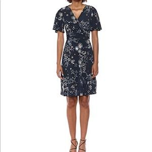 Moon and star Donna Morgan wrap dress